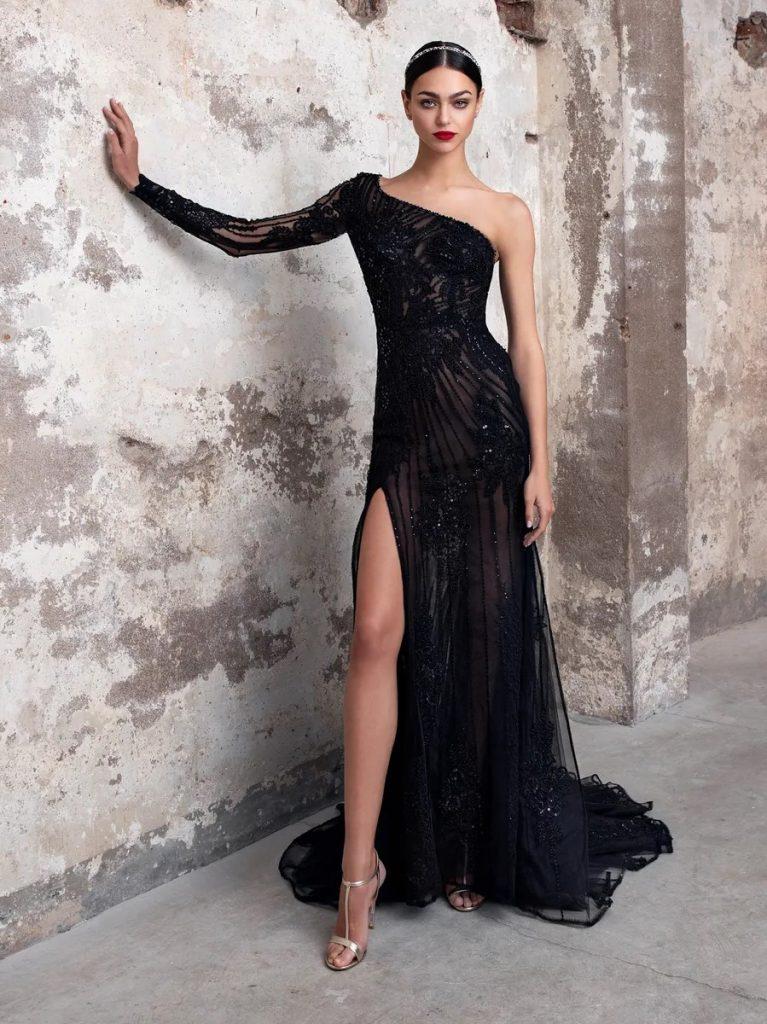 Sapphire zwarte trouwjurk